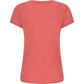 super.natural Base 140 T-shirt à col en V Femme, tandoori/georgia peach